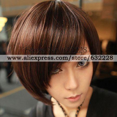 Zipper Brown Gal Gradient Color 40cm Oji Lolita Wig(China (Mainland))