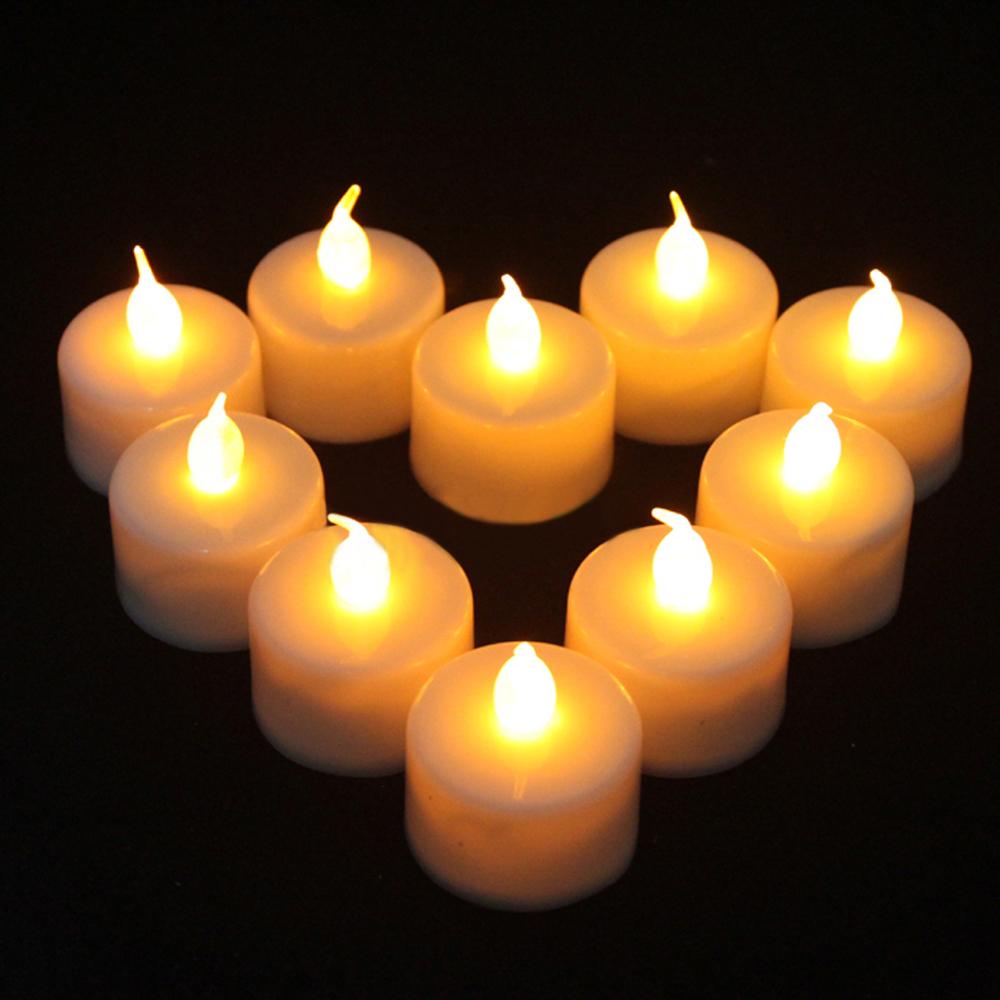 24 Pcs Flickering Flicker Light Flameless LED Tealight Tea Candles Light for Wedding Birthday Party Christmas Xmas Decoration(China (Mainland))