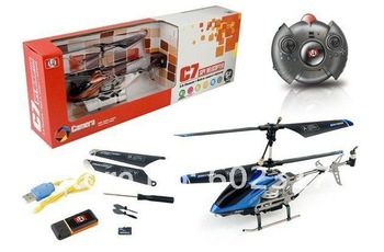 10.6 inch 3.5CH C7 SH 6030 RC helicopter with camera gyro rc radio control RTF ready to fly SH6030 1GB SD Card+ Free Shipping
