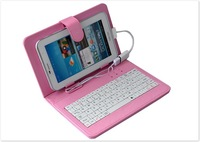 "USB Keyboard Leather Cover Case Bag for 7"" Tablet PC Q88 A13 A20 MID colorful Free Shipping Drop Shipping"