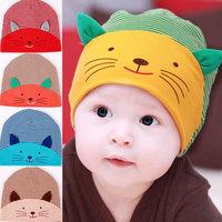 Princess autumn and winter baby hat child pocket 100% turban hat baby cotton hat