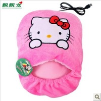 Free shipping + Cartoon usb warm foot shoes electric heating warm slippers winter heating usb warm feet treasure