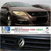 Free Shipping, Volkswagen cc car devil black label box light bar film carbon fiber refires