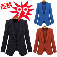 free shipping 2013 spring and autumn suit female fashionable casual fashion slim small suit jacket female plus size