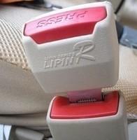 Free Shipping, Car socket snap buckle yellow black grey safety belt clip safety belt bolt buckle