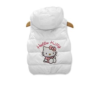 Детский теплый жилет для девочек Hello Kitty