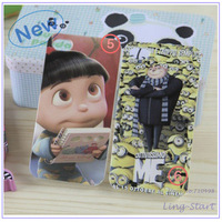 2013 10pcs Despicable Me Printing Housing Case Cover For iPhone 4 4S, funny design back cover,free shipping and wholesale case