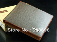 2013 Hot New Men's Leather Wallet Pockets Card Clutch Cente Bifold Purse