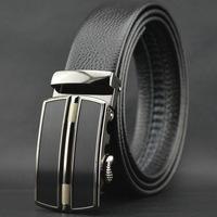 first generation cowskin leather men's Auto lock steel buckle belt business genuine soft natural leather belt#pk28-T2