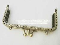 "10PCS 8.5cm 3.3"" bronze square double open hasp antique purse frame bag frame fot bag sewing craft tailor sewer"