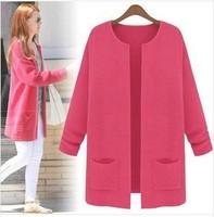 2013New fashion women's sweater medium-long knitted sweater ladies' Cardigan sweater knitwear fashion tops Free shipping