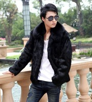 Free shipping Men fur, high copy the fox fur, fur lapels, winter men's short coat,S-XXL