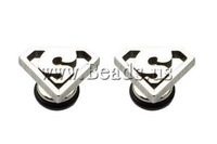 Free shipping!!!Stainless Steel Ear Piercing Jewelry,One Direction, Triangle, oril color, 8.20x10.80x1.70mm, 4Pairs/Lot