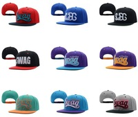 SWAG Snapback Hats hip hop Baseball Caps,13 colors to choose SWAG Adjustable hat,Good Service Mix Order Fashion High Quality