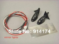 1/10 RC Car accessories  rc car parts Led lights/ Mirror lights  for 1:10 RC car 2sets/lot free shipping