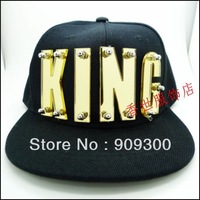 Free shipping King acrylic cap letter cap diy letter hip-hop cap personalized fashion black hats