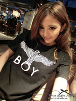 Clothing bigbang gdboy london eagle pattern loose short-sleeve T-shirt lovers design