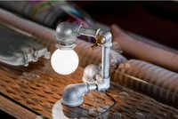 HOT Vintage Luxury  Water Handmade  Pipe Iron Lamp Nostalgic Personality lamps Industrial Style For Loft Coffee Bar Study
