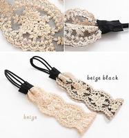 50pcs women's Fashion flower lace Headband, vintage style headwrap head chain 2 colors wholesale