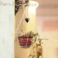 Flower pot iron planter iron hanging basket flower pot flower planters