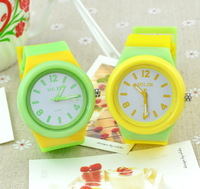 Free Shipping Jelly table large dial student watch ladies watch candy color small fresh honey disassembly table  Discount Store
