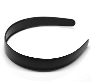 "12PCs Black Plastic Hairband Headband 38cm(15"") long (B18863)8seasons"