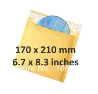 180 x 160 inches Gold Bubble Mailers / Envelopes /Bags Wholesale, 7 x 6.3 inches Kraft Padded bubble mailers Free shipping