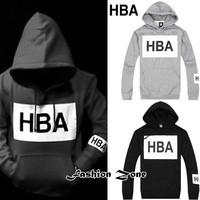 free shipping brand clothing Hood By Air Paid In Full Hoodie HBA PIF hip hop sweatshirt a hood pocket hat shirt  HBA  sweatshirt