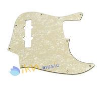 1pcs Aged Cream Pearl Jazz Bass JB Style JB Pickguard 3Ply 10Hole