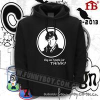 Quality sweatshirt sherlock thickening flock printing lovers outerwear hoodie
