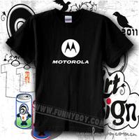 Fashion digital MOTOROLA work wear 100% short-sleeve cotton round neck T-shirt