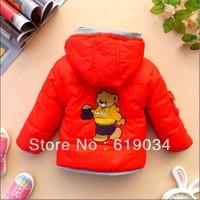 Free shipping 2013 male child ldquo . waq bear rdquo . thickening children wadded jacket children's clothing children outerwear