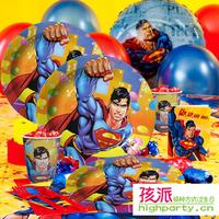 Free shipping Byelaya birthday party supplies birthday supplies super man superman bundle 6