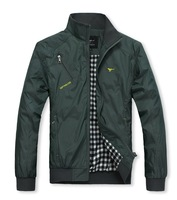 2013 spring and autumn new men's cheap brand mandarin collar jacket coat.Military green jackets for men.J1P59