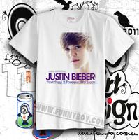 Hot-selling t-shirt justin bieber b high quality 100% cotton