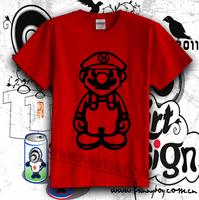 T-shirt mario t-shirt chromophous smr09 100% cotton