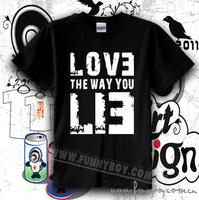 Chromophous t-shirt eminem love the way you lie t-shirt high quality 100% cotton