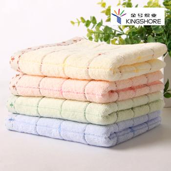 100% cotton towel plain line soft quick-drying practical type suction