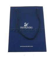 Free shipping!!!Shopping Bag,Diy, Paper, Rectangle, sapphire, 15x110x70mm, 50PCs/Lot, Sold By Lot