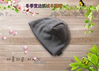 Free Shipping Outdoor male fleece hat broad-brimmed outdoor skiing hat thermal fleece hat