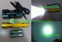 Free shipping , NEW UltraFire XM-L2 U2 upgrade L2 LED Flashlight 1200 lumens golden Charger Kit