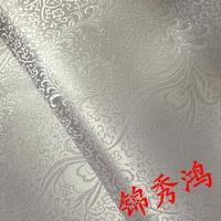DIY antique kimono fabric phoenix cheongsam costume brocade fabric white white peony 90cm Pteris