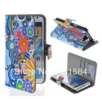 Meteor Shower Wallet Leather Case Cover with Stand for Samsung Galaxy Note 2 / II N7100+1pcs film.freeshipping