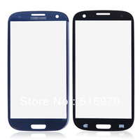 30pcs/lot Blue Touch Screen Glass Lens for Samsung Galaxy S3 i9300 free shipping by DHL EMS
