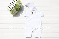 15 Wholesale + Retail 1 pcs baby girl hooded bodysuits short sleeves jumpsuits girl sports rompers