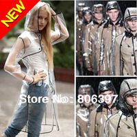 Hot Sale 2013 Sexy Clear Fashion Runway Style Rain Coat Women Girls Waterproof Jacket Raincoat Regenmantel