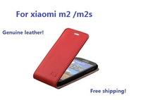 Genuine leather flip case for  xiaomi m2 m2s cover for xiaomi mi2 mi2s fashion mobile phone case for xiaomi m 2 2s flip case