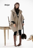 Wholesale New Arrival Women's Sweater Poncho Ladies' Elegant Hooded Bat Wing Long Loose Cardigan Coat 1009
