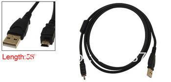 "56"" USB 2.0 Plug to Mini 5 Pin Extension Extension Cord Cable"