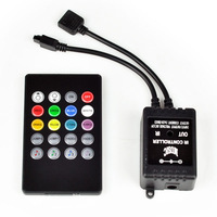 12V 6A 72W Common Anode Sound Sensitive Music LED Controller for RGB LED Strip